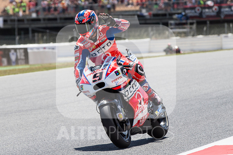 Danilo Petrucci of Italy and Osto Pramac Raciong Team rides during the qualifying for the MotoGP of Catalunya at Circuit de Catalunya on June 9, 2017 in Montmelo, Spain.(ALTERPHOTOS/Rodrigo Jimenez)