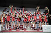 TTT winners Team BMC on the podium<br /> <br /> 12th Eneco Tour 2016 (UCI World Tour)<br /> stage 5 (TTT) Sittard-Sittard (20.9km) / The Netherlands