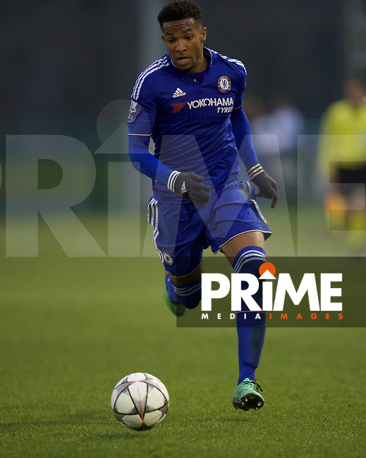 Kasey Palmer of Chelsea during the UEFA Youth League Quarter final match between Chelsea U19 and Ajax U19 at Chelsea Training Ground, Cobham, England on 15 March 2016. Photo by Alan  Stanford / PRiME Media Images