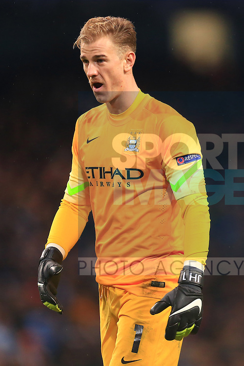 Joe Hart of Manchester City - Manchester City vs. Bayern Munich - UEFA Champion's League - Etihad Stadium - Manchester - 25/11/2014 Pic Philip Oldham/Sportimage