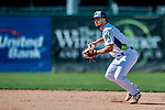 3 September 2018: Vermont Lake Monsters infielder Joseph Pena gets the second out in the bottom of the 8th inning against the Tri-City ValleyCats at Centennial Field in Burlington, Vermont. The Lake Monsters defeated the ValleyCats 9-6 in the last game of the 2018 NY Penn League regular season. Mandatory Credit: Ed Wolfstein Photo *** RAW (NEF) Image File Available ***