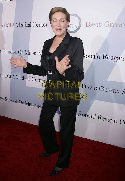 JULIE ANDREWS.Millennium Ball 2006 Honoring Walt Disney Co. President and CEO Robert A. Iger, benefiting the Ronald Reagan UCLA Medical Center held at the Ronald Reagan UCLA Medical Center, Westwood, California, USA,.05 October 2006..full length hands funny black trousers suit.Ref: ADM/RE.www.capitalpictures.com.sales@capitalpictures.com.©Russ Elliot/AdMedia/Capital Pictures.