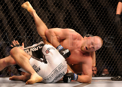24.09.2011. Denver, Colorado. Nick Ring has the upper hand on Tim Boetsch during UFC 135 at the Pepsi Center in Denver, Colorado.