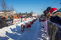 Kristin Bacon, 2017 Iditarod sled dog race restart in Fairbanks, Alaska.
