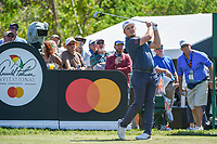 Eddie Pepperell (ENG) watches his tee shot on 7 during round 1 of the Arnold Palmer Invitational at Bay Hill Golf Club, Bay Hill, Florida. 3/7/2019.<br /> Picture: Golffile | Ken Murray<br /> <br /> <br /> All photo usage must carry mandatory copyright credit (© Golffile | Ken Murray)