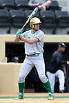 WAKE FOREST, NC - APRIL 15: Notre Dame's Matt Vierling. The Wake Forest Demon Deacons hosted the University of Notre Dame Fighting Irish on April 15, 2017, at David F. Couch Ballpark in Wake Forest, NC in a Division I College Baseball game. Wake Forest won the game 13-7.