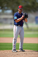 Minnesota Twins pitcher Tommy Milone (33) during a Spring Training practice on March 1, 2016 at Hammond Stadium in Fort Myers, Florida.  (Mike Janes/Four Seam Images)