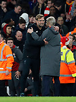 Arsenal's Arsene Wenger hugs Liverpool's Jurgen Klopp during the premier league match at the Emirates Stadium, London. Picture date 22nd December 2017. Picture credit should read: David Klein/Sportimage