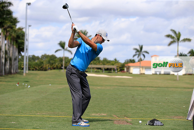 Martin Kaymer (GER) on the range during the preview to the WGC Cadillac Championship, Blue Monaster, Trump National, Doral,  Florida, USA. 01/03/2016.<br /> Picture: Golffile   Fran Caffrey<br /> <br /> <br /> All photo usage must carry mandatory copyright credit (&copy; Golffile   Fran Caffrey)