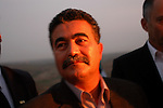 Israel's Labor Party leader Amir Peretz during an election campaign visit to the Israeli settlement of Shima, south of the West Bank city of Hebron.<br /> February 26th, 2006 (Photo by Ahikam Seri).