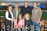 TRACK TIME: Francis Ferris, Churchill celebrating his birthday with family and friends at the Kingdom Greyhound Stadium on Friday seated l-r:  Aine and Maeve Ferris. Back l-r: Anne and Jim Ferris, Mike O'Loughlin and Francis Ferris.