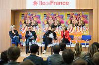 ANNE A. R., LUC BARRUET, SEBASTIEN FOLIN, VALERIE PECRESSE - CONFERENCE DE PRESSE SOLIDAYS 2016 'SOLIDAYS OF LOVE'