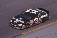 Dale Earnhardt , action, Daytona 500, Daytona International Speedway, Daytona Beach, FL, February 18, 2001.  (Photo by Brian Cleary/ www.bcpix.com )