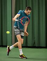 March 15, 2015, Netherlands, Rotterdam, TC Victoria, NOJK, Final boys 14 years, Deney Wassermann (NED)<br /> Photo: Tennisimages/Henk Koster