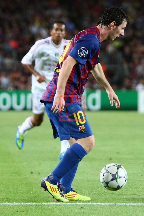 Lionel Messi. FC Barcelona vs AC Milan: 2-2 (UEFA Champions League - Season 1).