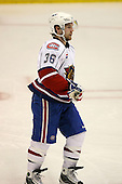 March 15, 2009:  Center David Desharnais (36) of the Hamilton Bulldgos, AHL affiliate of Montreal Canadians, during the second period of a regular season game at the Blue Cross Arena in Rochester, NY.  Hamilton defeated Rochester 4-3 in a shoot out.  Photo Copyright Mike Janes Photography 2009
