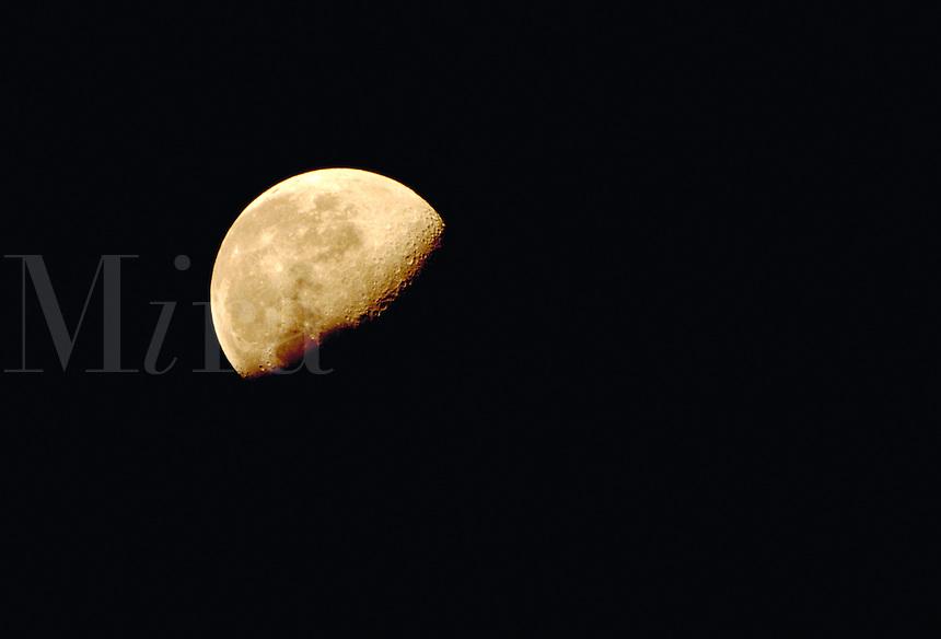 Gibbous moon. Houston Texas.