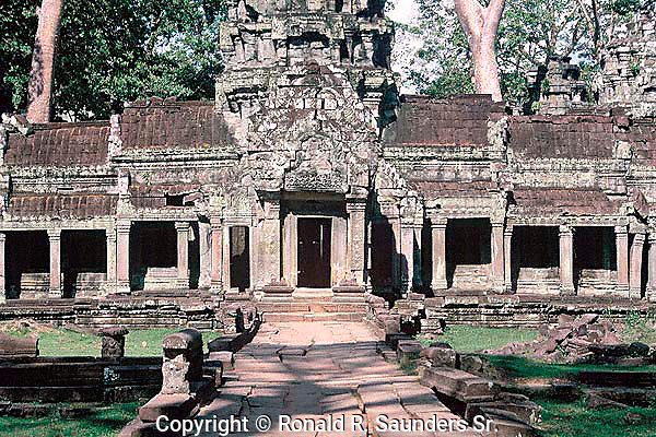 [PHOTO AVAILABLE in PRINT ONLY]<br /> [UNESCO WORLD HERITAGE SITE]<br /> <br /> TA PROHM TEMPLE EXTERIOR at ANGKOR WAT