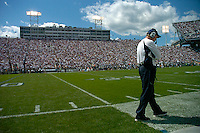01 September 2007:  Penn State Defensive Coordinator Tom Bradley paces the sideline.  The Penn State Nittany Lions defeated the Florida International Golden Panthers 59-0 September 1, 2007 at Beaver Stadium in State College, PA..