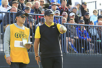 Patrick Reed (USA) on the 13th tee during Thursday's Round 1 of the 148th Open Championship, Royal Portrush Golf Club, Portrush, County Antrim, Northern Ireland. 18/07/2019.<br /> Picture Eoin Clarke / Golffile.ie<br /> <br /> All photo usage must carry mandatory copyright credit (© Golffile | Eoin Clarke)