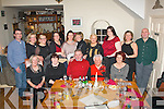 YOUNG AT HEART: Marie Moriarty, O'Rahilly's Villas, Tralee (seated 2nd right) had a fab time with friends and family celebrating her 70th birthday last Friday night in Bella Bia, Tralee, seated l-r: Bridie O'Grady, Margaret, Tony, Marie and Monica Moriarty. Back l-r: Michael Godley, Phil Kissane, Bernadette O'Connell, Doreen Duggan, Marie Godley, Ann Hobbert, Collette Houlihan, Jennifer Moriarty, Ann Davies and John Moriarty.