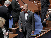 United States Representative Hakeem Jeffries (Democrat of New York) on the floor prior to US President Donald J. Trump delivering his second annual State of the Union Address to a joint session of the US Congress in the US Capitol in Washington, DC on Tuesday, February 5, 2019.<br /> Credit: Alex Edelman / CNP