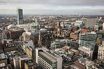 © Joel Goodman - 07973 332324 . 07/12/2013 . Beetham Tower , Manchester Town Hall , GMex , Manchester Centre , Town Hall , Midland Hotel . Cityscape view of Manchester . Photo credit : Joel Goodman