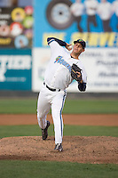 September 1, 2009: Everett AquaSox's Philip Roy toes the rubber against the Vancouver Canadians in a Northwest League game at Everett Memorial Stadium in Everett, Washington.