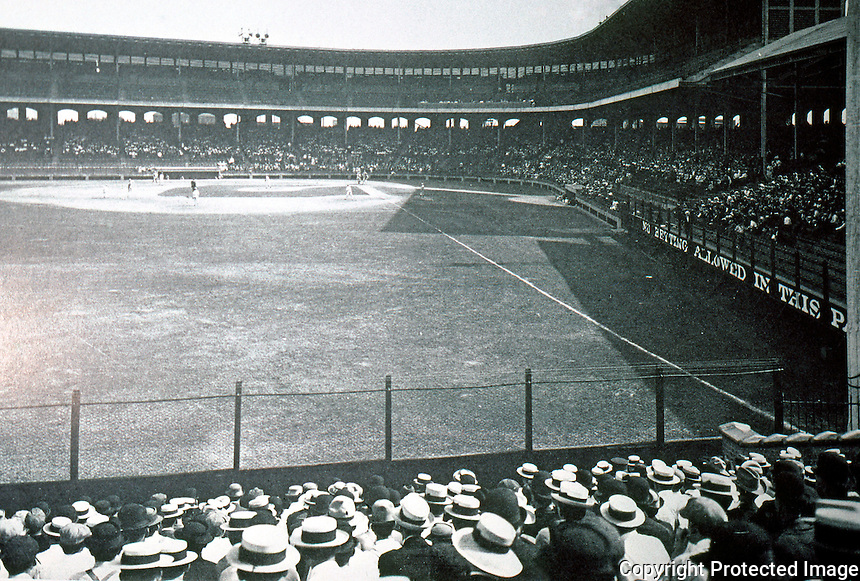 Ballparks: Chicago Comiskey Park, 1910. The first steel and concrete stadium, I think. CHICAGO AT THE TURN OF THE CENTURY...Dover.