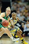 03 APR 2012: Odyssey Sims (0) of Baylor University tries to steal the ball from Natalie Novosel (21) of the University of Notre Dame during the Division I Women's Basketball Championship held at the Pepsi Center in Denver, CO. Stephen Nowland/NCAA Photos