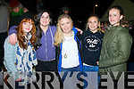 Celebrating the New Year in Portmagee were l-r; Ruby O'Sullivan, Tara Riordan, Jessica O'Connor, Cliodhna Guiney & Katie Trew.
