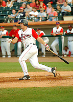 August 16 2008:  Ryan Lavarnway of the Lowell Spinners at LeLacheur Park in Lowell, MA.  Photo by:  Ken Babbitt/Four Seam Images