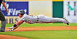 15 March 2009: Detroit Tigers' outfielder Brent Clevlen dives head first to steal second base during a Spring Training game against the Washington Nationals at Space Coast Stadium in Viera, Florida. The Tigers shut out the Nationals 3-0 in the Grapefruit League matchup. Mandatory Photo Credit: Ed Wolfstein Photo