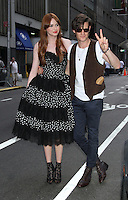 August 25, 2012 Karen Gillan, Matt Smith attend the US premiere  screening  of Doctor Who  at the Ziegfeld Theatre in New York City.Credit:© RW/MediaPunch Inc. /NortePhoto.com<br />