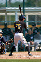 Pittsburgh Pirates Erik Forgione (75) during a minor league Spring Training game against the New York Yankees on March 26, 2016 at Pirate City in Bradenton, Florida.  (Mike Janes/Four Seam Images)