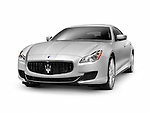2014 Maserati Quattroporte S Q4 luxury car isolated on white background with clipping path
