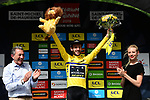 Race leader Adam Yates (GBR) Mitchelton-Scott retains the Yellow Jersey at the end of Stage 6 of the Criterium du Dauphine 2019, running 229km from Saint-Vulbas - Plaine de l'Ain to Saint-Michel-de-Maurienne, France. 14th June 2019.<br /> Picture: ASO/Alex Broadway | Cyclefile<br /> All photos usage must carry mandatory copyright credit (© Cyclefile | ASO/Alex Broadway)