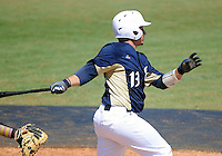 Florida International University catcher Iosmet Leon (13) plays against ULM. FIU won the game 8-6 on April 1, 2012 at Miami, Florida.