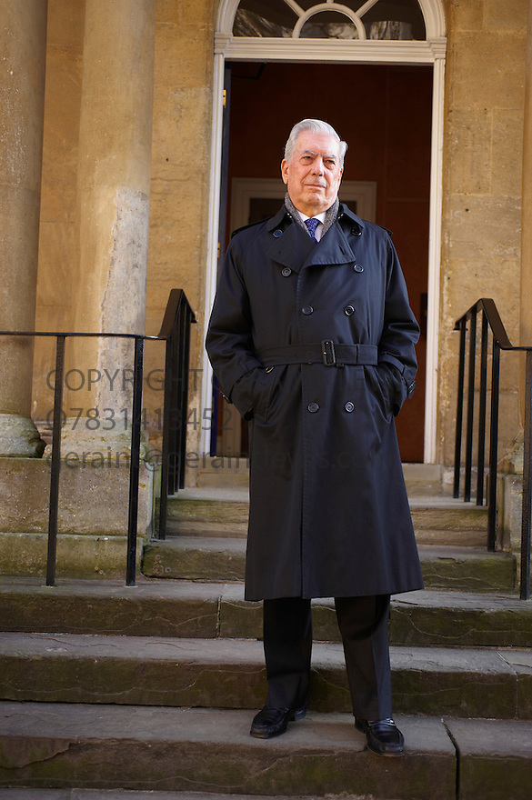 Mario Vargas Llosa ,Peruvian Novelist,Writer,Politician,Journalist and essayist at the Oxford Literary Festival at Christchurch College Oxford. CREDIT Geraint Lewis