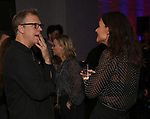 """Peter Hedges and Katie Holmes attends MCC Theater's Inaugural All-Star  """"Let's Play! Celebrity Game Night"""" at the Garage on November 03, 2019 in New York City."""