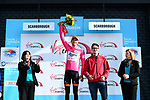 Etienne Van Empel (RNL) wears the climbers pink jersey at the end of Stage 1 the Tour de Yorkshire 2017 running 174km from Bridlington to Scarborough, England. 28th April 2017. <br /> Picture: ASO/A.Broadway | Cyclefile<br /> <br /> <br /> All photos usage must carry mandatory copyright credit (&copy; Cyclefile | ASO/A.Broadway)