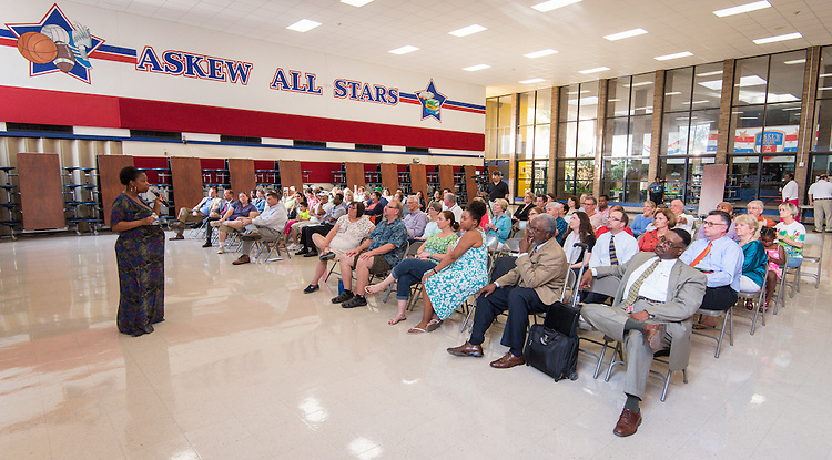 Initial bond community meeting at Askew Elementary School, July 29, 2015.