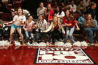 STANFORD, CA - JANUARY 10:  Fans of the Stanford Cardinal during Stanford's 102-53 win against the Washington State Cougars on January 10, 2009 at Maples Pavilion in Stanford, California.