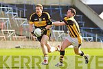Andrew Kenneally Dr Crokes v Stephen Finnigan Crossmaglen Rangers in the All Ireland Club Senior Football Championship Semi-Final, at O'Moore Park, Portlaoise on Saturday 18/2/2012