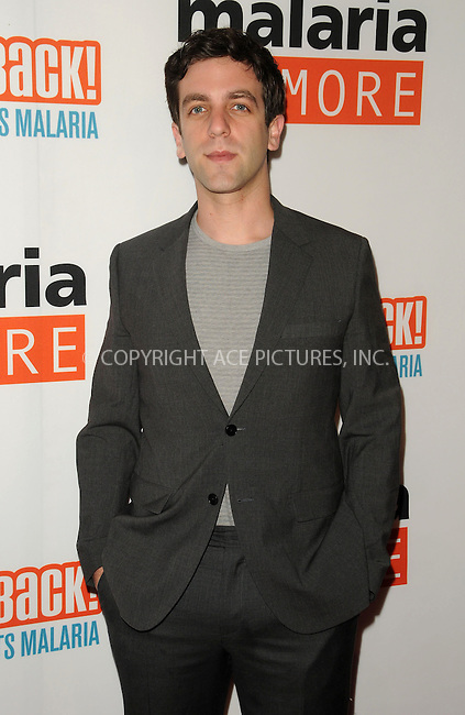 WWW.ACEPIXS.COM . . . . . ....April 16 2011, Los Angeles....Actor B.J. Novak arriving at Malaria No More Presents: Hollywood Bites Back! at Club Nokia L.A. Live on April 16, 2011 in Los Angeles, CA....Please byline: PETER WEST - ACEPIXS.COM....Ace Pictures, Inc:  ..(212) 243-8787 or (646) 679 0430..e-mail: picturedesk@acepixs.com..web: http://www.acepixs.com