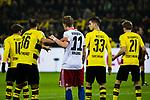 10.02.2018, Signal Iduna Park, Dortmund, GER, 1.FBL, Borussia Dortmund vs Hamburger SV, <br /> <br /> im Bild | picture shows:<br /> Strafraumszene mit Oemer Toprak (Borussia Dortmund #36) und Andr&eacute; Hahn (HSV #11], <br /> <br /> <br /> Foto &copy; nordphoto / Rauch