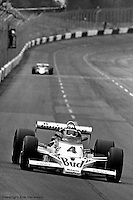 HAMPTON, GA - APRIL 22: Johnny Rutherford drives his McLaren M24B/Cosworth TC enroute to victory in the Gould Twin Dixie 125 event on April 22, 1979, at Atlanta International Raceway near Hampton, Georgia.