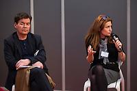 EXCLUSIF : Foire du livre de Bruxelles : Conf&eacute;rence : &quot;Comment r&eacute;enchanter la Justice&quot; - Avec Bernard Wesphael, Alessandra d'Angelo et Jean-Fran&ccedil;ois Funck, magistrat - Mod&eacute;rateur : Dominique Demoulin.<br /> Belgique, Bruxelles, 9 mars 2017.<br /> Pic :  Bernard Wesphael, Alessandra d'Angelo