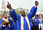 Leicester city choir member celebrates before the Barclays Premier League match at the King Power Stadium Leicester. Photo credit should read: Nathan Stirk/Sportimage<br /> <br /> <br /> <br /> <br /> <br /> <br /> <br /> <br /> <br /> <br /> <br /> <br /> <br /> <br /> <br /> <br /> <br /> <br /> <br /> <br /> <br /> <br /> <br /> <br /> <br /> <br /> <br /> <br /> <br /> <br /> <br /> - Newcastle Utd vs Tottenham - St James' Park Stadium - Newcastle Upon Tyne - England - 19th April 2015 - Picture Phil Oldham/Sportimage