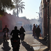 Street scene from the Medina of Marrakech, Morocco. Picture by Manuel Cohen